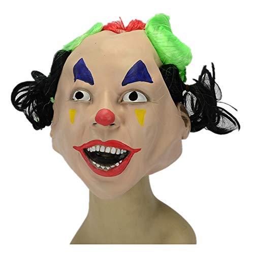 WHLMJ Latex Maske Halloween Kostüm Nachtclub Albernes Mädchen Unheimlich. - Unheimliche Kostüm Mädchen