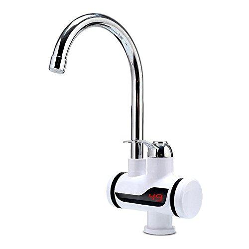 220V-Elektro-Durchlauferhitzer Wasserhahn, Wasser, 360Rotation Edelstahl Hot heißes und kaltes Wasser Küchenarmatur mit LED Digital Display für Home Ausstattung