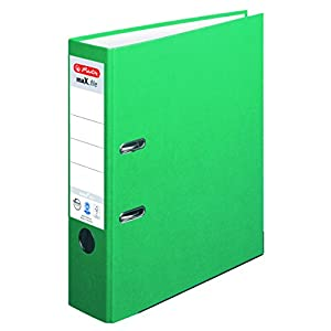 Herlitz 10841518 ring binder - ring binders (Green, A4)