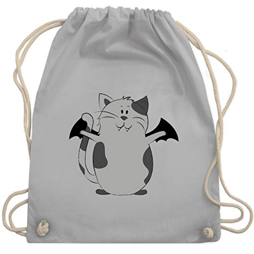 Halloween - Katze Halloween - Unisize - Hellgrau - WM110 - Turnbeutel & Gym Bag (Kostüm Ideen, Katze Halloween)