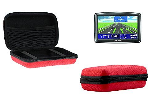 Navitech Rotes Shock Sicheres EVA Schutztasche / Cover / Case / Gehäuse für Navi / Navitagtiongeräte von max Größe 18cm x 11cm x 3cm