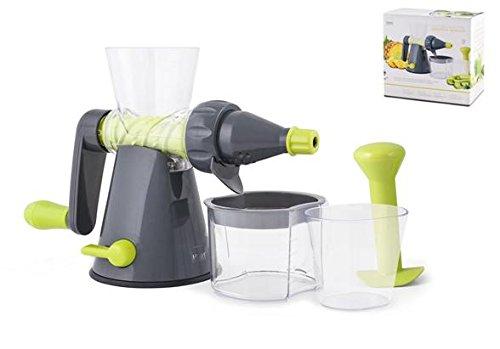 H&H Estrattore Succhi Manuale Grigio Pentole E Preparazione Cucina, Plastica, Verde