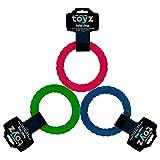 Petface Toyz gedrehter Ring, blau/grün/rosa