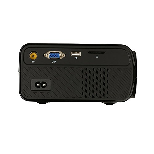 ETbotu HD Projector 1080P LED Mini Projector 1600 Lumens Portable Home Theater Video Projector