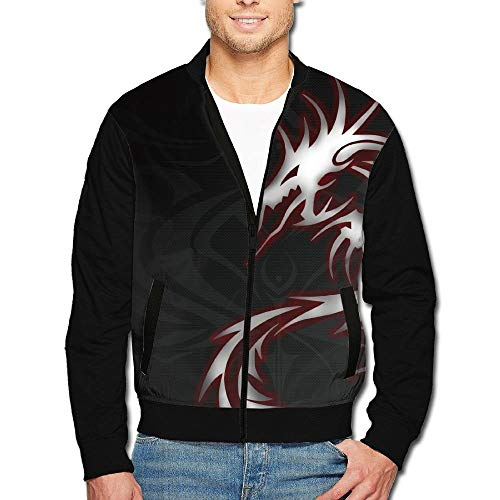 kfghtr Cool Dragon Tribal Men Long Sleeve Full Zip Jacket -