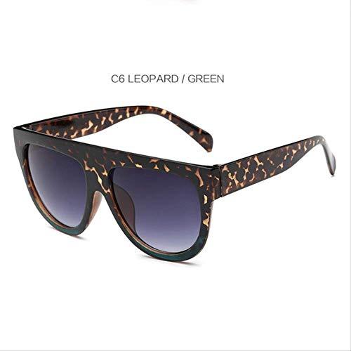 DongOJO Sonnenbrille Frauen Retro Weibliche Rahmen Brillen Sonnenbrillen Sonnenbrillen Sonnenbrillen C7 Schwarz Cha C6 Leopard Grün