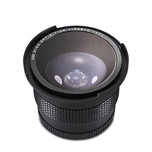 XU-XIAZHI,Obiettivo grandangolare fisheye Fisso 52MM 0,35X con Coperchio Rimovibile(Color:Nero)