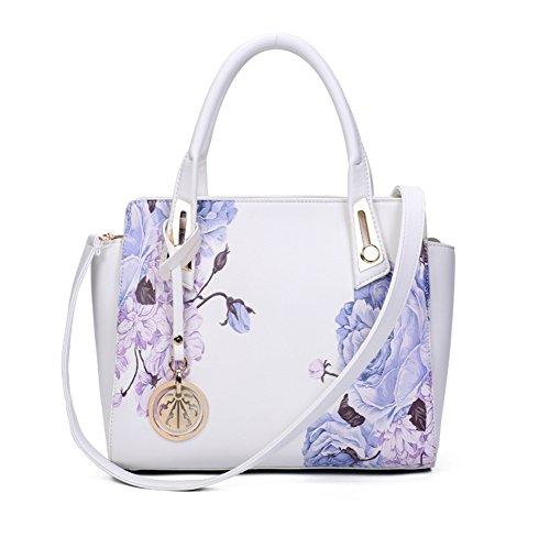 stampa bag/Retrò fiore peonia Pack/Borsa a tracolla/Ali di Magnolia-E E