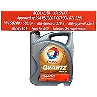 Aceite sintético de motor Total Quartz, 9000, ...