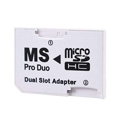 Leagy bianco dual slot psp memory stick pro duo adapter