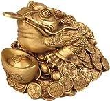Dekofigur Spardose goldene Glückskröte Glücksbringer