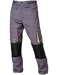 Wolfpack 15017090 - Pantalon de trabajo Gris/Amarillo, Talla 42/44 M