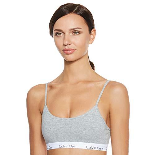 Calvin Klein underwear Damen BRALETTE Bustier, Grau (GREY HEATHER 020), 36 (Herstellergröße: M)