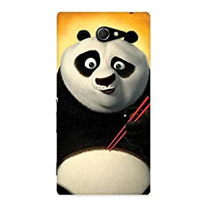 Premium Kun Panda Multicolor Back Case Cover for Sony Xperia M2