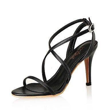 Sandales femmes Printemps Été Club Chaussures en cuir & synthétique fête de mariage robe de soirée Talon Black