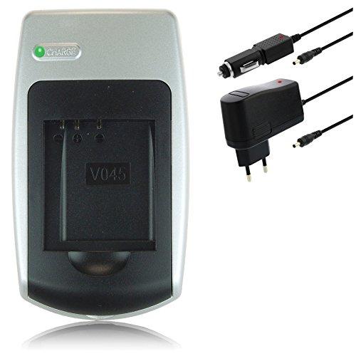 Ladegerät DB-L80 für Sanyo Xacti / D-Li88 für Pentax Optio / PX1686 für Toshiba Camileo… - siehe Kompatibilitätsliste