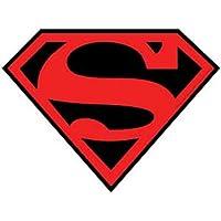 SUPERMAN Red rosso & Black nero Superboy Logo STICKER ADESIVO, Officially Licensed DC Comic Superhero Artwork, 4