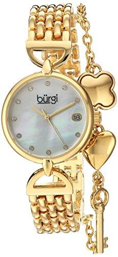 Burgi Femme à quartz en acier inoxydable montre de style décontracté, couleur: Gold-toned (modèle: Bur172yg)