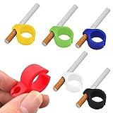 6Pcs Anillo Silicona Dedo Mano Del Cigarrillo Estante Para El Fumador Regular-Soporte De Tabaco (6Pcs)