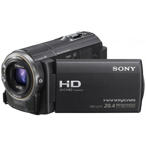 Sony HDR-CX570E Full-HD Camcorder (7,5 cm (3 Zoll) LCD-Display, 12x opt. Zoom, 20 Megapixel, 26mm Weitwinkel) - 20 Sony Hdr