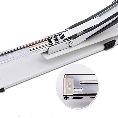 Comprajunta Langarm-Metallic-Stapler Für A3-A4-Papier, USA-Stapel-Standardkapazität bis Zu 20 Blatt Papier 80G, Stapel 409 * 47 * 70Mm-Skala,White