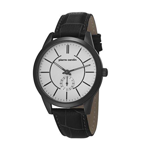 Pierre Cardin PC106571F05 - Reloj para hombres, correa de cuero color negro