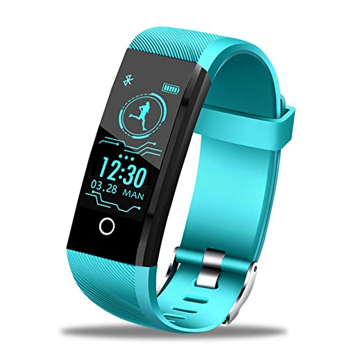 DMMDHR LIGE 2019 Neues Smart-Armband Herzfrequenz-Messgerät Blutdruck Sauerstoff Fitness-Armband IP68 Wasserdicht Smartwatch Männer Frauen, Hellblau