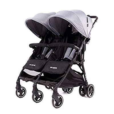 Carro gemelar Kuki Twin Baby Monsters - Color Heather Grey – ¡¡Rebajas 2019!!