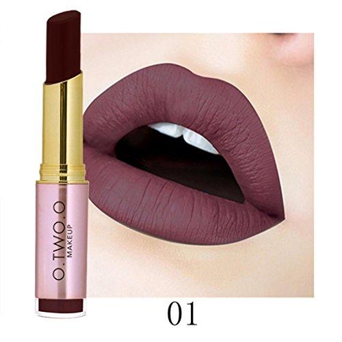 ESAILQ Mesdames Beauté Maquillage Rouge à lèvres imperméable Sexy Hydratant Longue Lipstick Durable (A)