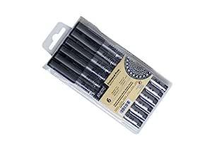 Brustro Technical Pen Black (Pack of 6)