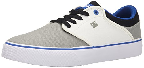 DC Men's Mikey Taylor Vulc Mikey Taylor Signature Skate Shoe, Burgundy, 10 M US Grey/White/Blue