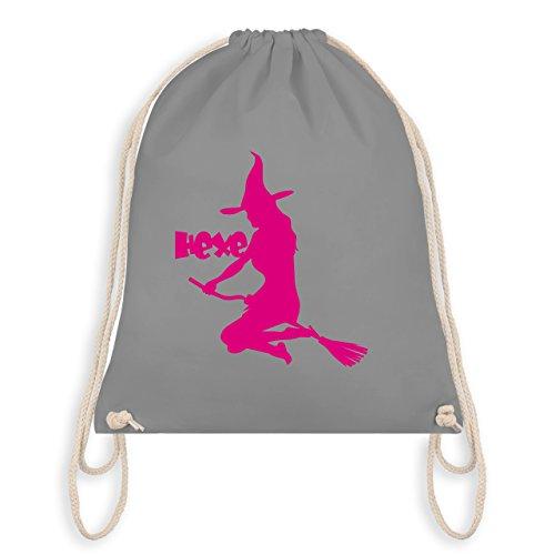 dem Besen - Unisize - Hellgrau - WM110 - Turnbeutel I Gym Bag (Weibliche Hipster Kostüm)