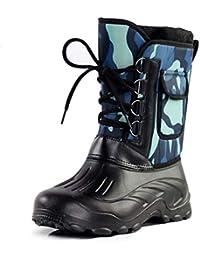Botas para la Nieve de Invierno para Hombre Zapatos tácticos Impermeables y cálidos hasta la Rodilla