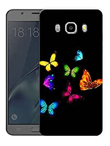 "Humor Gang Multi Color Butterflies Printed Designer Mobile Back Cover For ""Samsung Galaxy J7 2016 Edition"" (3D, Matte Finish, Premium Quality, Protective Snap On Slim Hard Phone Case, Multi Color)"