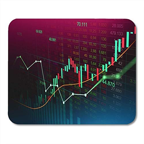 Mauspad Börse Trading Graph in futuristisch geeignet für finanzielle Mousepad für Notebooks, Desktop-Computer Mauspads, Bürobedarf 10 x 12 Zoll