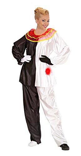 Widmann 35352 - Kostüm Set Pierrot für Erwachsene, Größe (Erwachsenen Narren Kostüme)