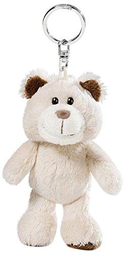 Nici 36966 - portachiavi orsetto panna, 10 cm