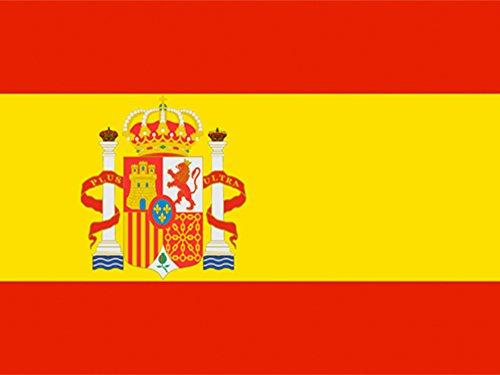 Piersando Fahne 150cm x 90 cm Länderflagge Fanartikel Land Flagge mit Metallösen Spanien