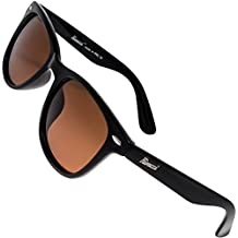Rivacci Gafas de Sol Polarizadas Hombre Mujer Wayfarer – Marca Retro/Vintage – Lentes Deportivas – Negras/Marrón Polarizado