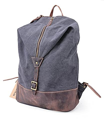 Gootium Vintage Canvas Unisex Daypack & Backpack 15.6