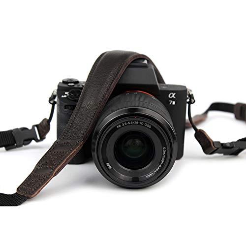 Pack & Smooch Kameragurt Mit Schnellverschluß Schultergurt aus rein pflanzlich gegerbtem Ecopell Nappa Luxus-Leder Für Canon, Nikon, Pentax, Leica und Sony (Dunkelbraun) - Handgefertigt in Hamburg