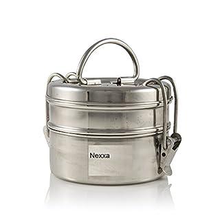 Nexxa 2-Tier Stainless Steel Indian Tiffin Lunch Box (medium), School, office use