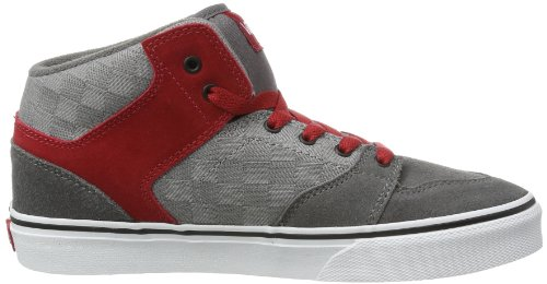 Vans Y Brooklyn, Baskets mode mixte enfant Gris (Check Jacquard)