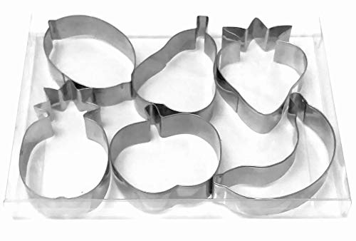 Fruit strawberry apple pear pineapple banana lemon cookie cutter fondant biscuit baking mold by LAWMAN