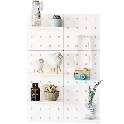 Xeples DIY Lochplatte an der Wand Regal Selbstklebend Wandhalterung Werkzeug Rack Wandregal mit Regalboden - Display Kunststoff-utensil