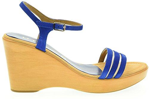 Plate-forme Chaussures UNISA Sandales Femmes RUFUS_KS ELECT. BLEU Blu