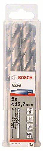 BOSCH 2 608 585 543  - BROCA PARA METAL HSS-G  DIN 338 - 12 7 X 101 X 151 MM (PACK DE 5)