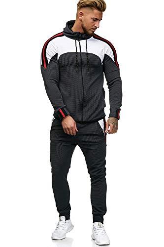 OneRedox Herren Jogginganzug Sportanzug Modell 1148 Antra L