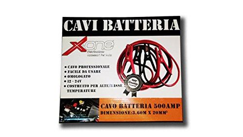 XONE-CAVI-BATTERIA-CAVO-PROFESSIONALE-PER-AUTO-E-MOTO-500-AMP-FACILE-DA-USARE-OMOLOGATO-12-24V-COSTRUITO-PER-ALTEBASSE-TEMPERATURE-500AMP-DIMENSIONI-360M-X-20MM