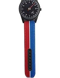 Uhrenarmband in rot, weiß und blau